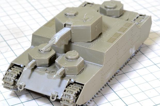 【ファーストタッチ】 150t超重戦車 オイ (安田征策) ~ O-I Super Heavy Tank